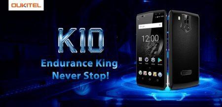 Oukitel K10: autonomia di 3 giorni con una batteria da 11.000 mAh