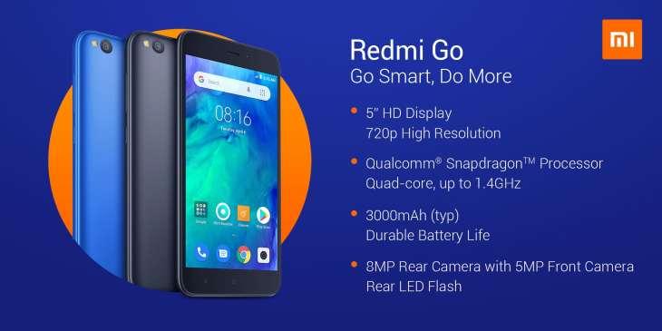 Xiaomi presenta Redmi Go, smartphone di fascia bassa con Android Go