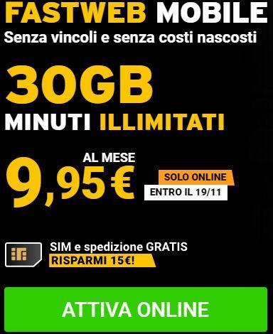 Tariffe Fastweb mobile per i nuovi clienti