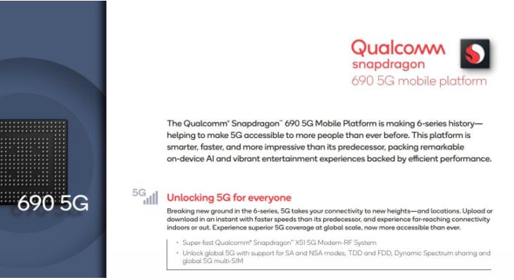 Con il processore Snapdragon 690 anche i cellulari low-cost supportano il 5G